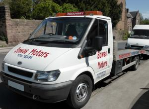 Bowes Motors breakdown rescue and recovery service.